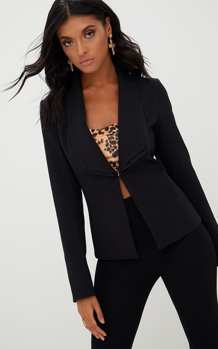 Black Double Lapel Blazer