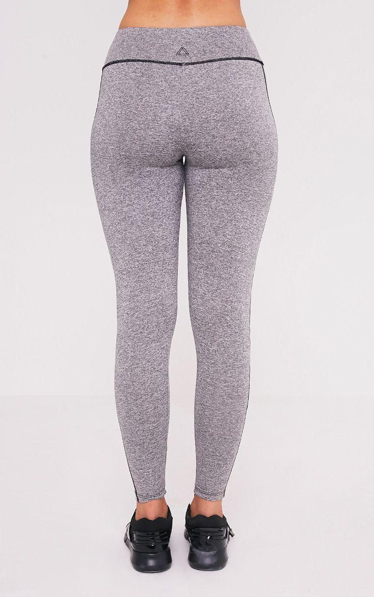 Alexis Grey Marl Panelled Gym Leggings 5