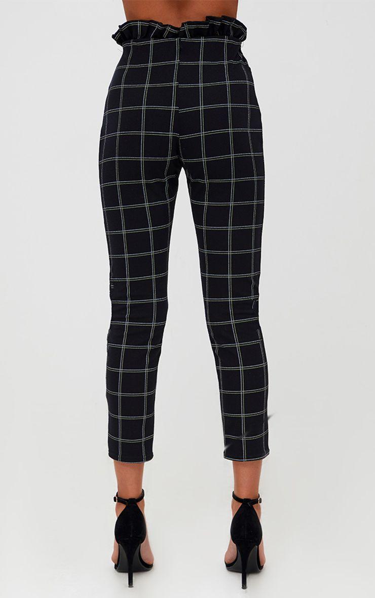 Pantalon skinny noir en tweed carreaux pantalons for Pantalon carreaux