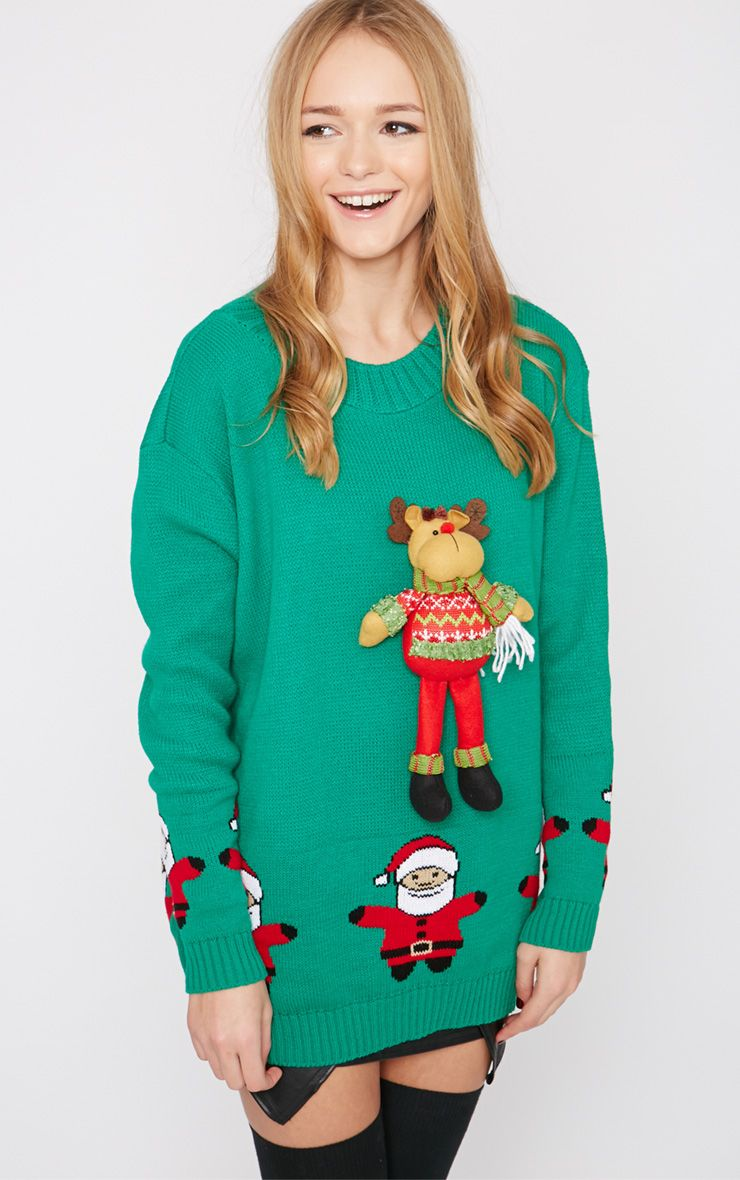 Hartley Green 3D Rudolph Toy Christmas Jumper  1