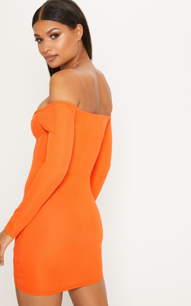 Ruched dress white ribbed long sleeve bardot bodycon and eglinton