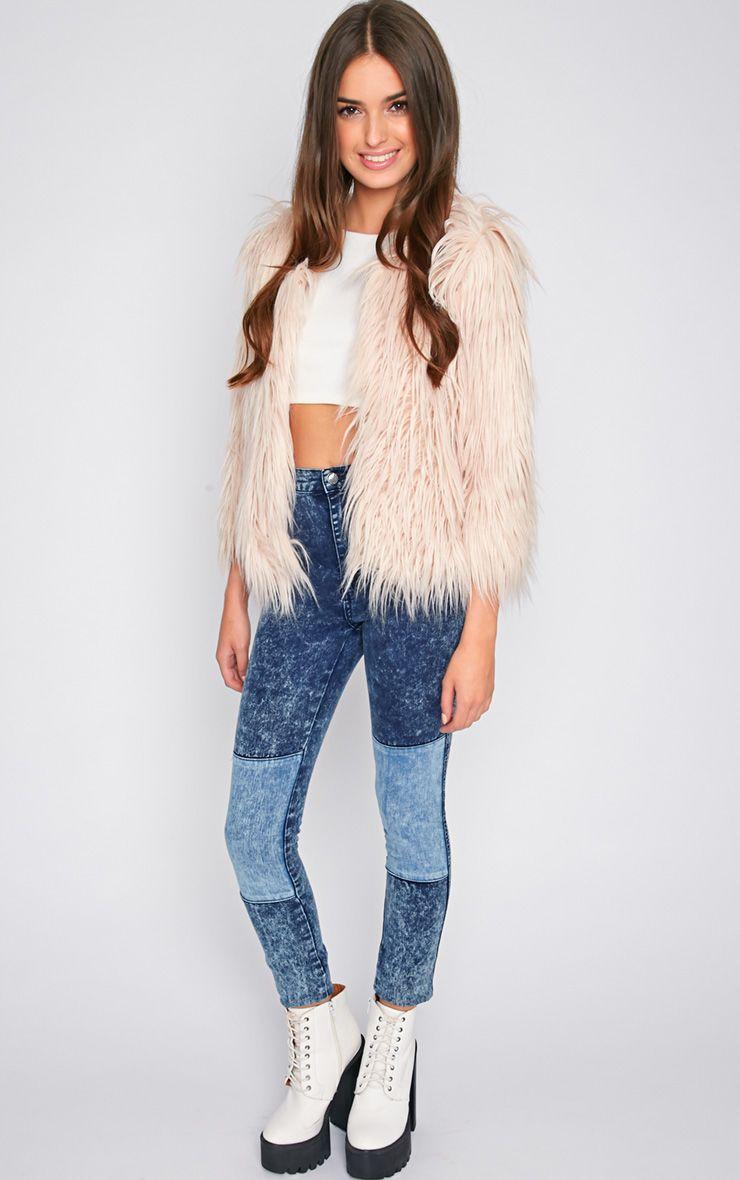 Cuddle Bug Faux Fur Jacket - Nude, Jackets & Coats