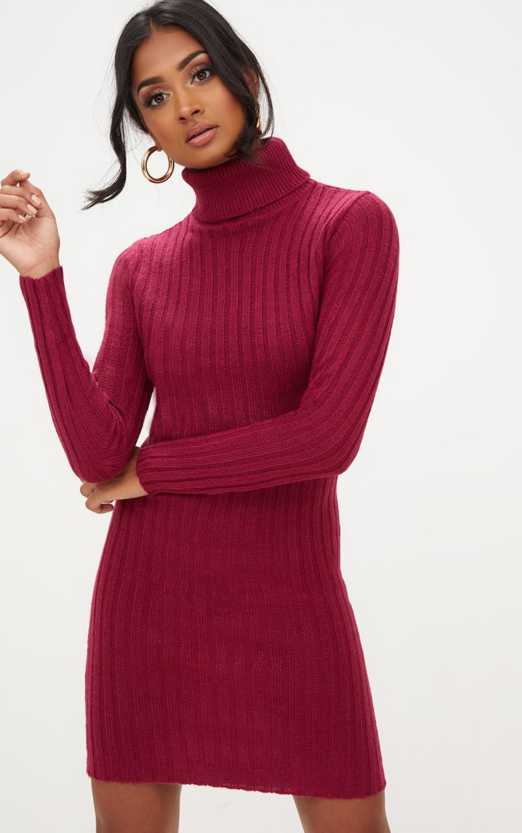 Rose Chunky Cable Knit Roll Neck Jumper