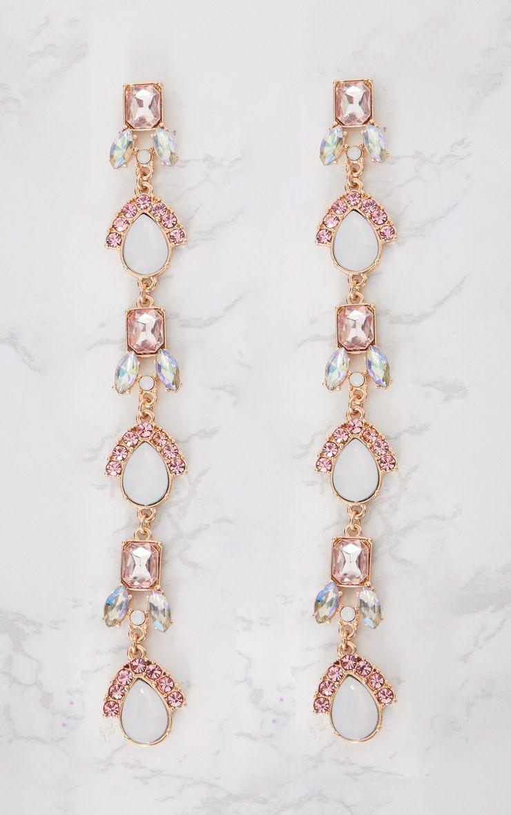 Boucles d 39 oreilles pendantes fausses pierres pr cieuses accessoires - Fausse pierre precieuse ...