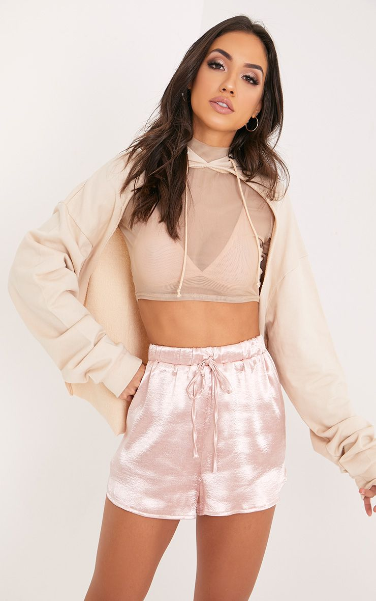 Mireyah Blush Satin Shorts