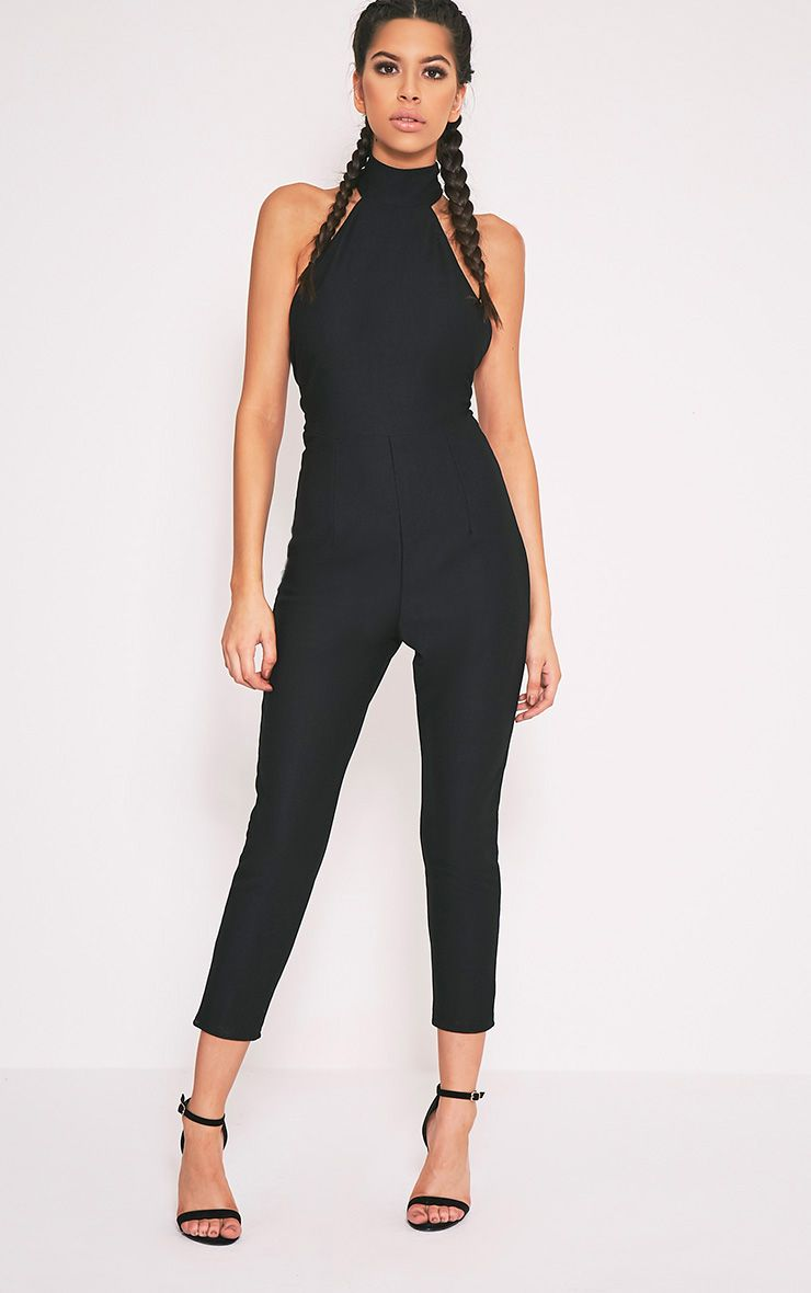 Aliana Black Backless Jumpsuit