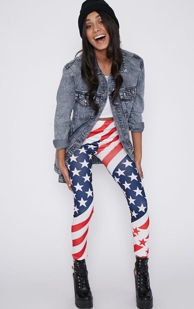 Morgana American Flag Legging  1