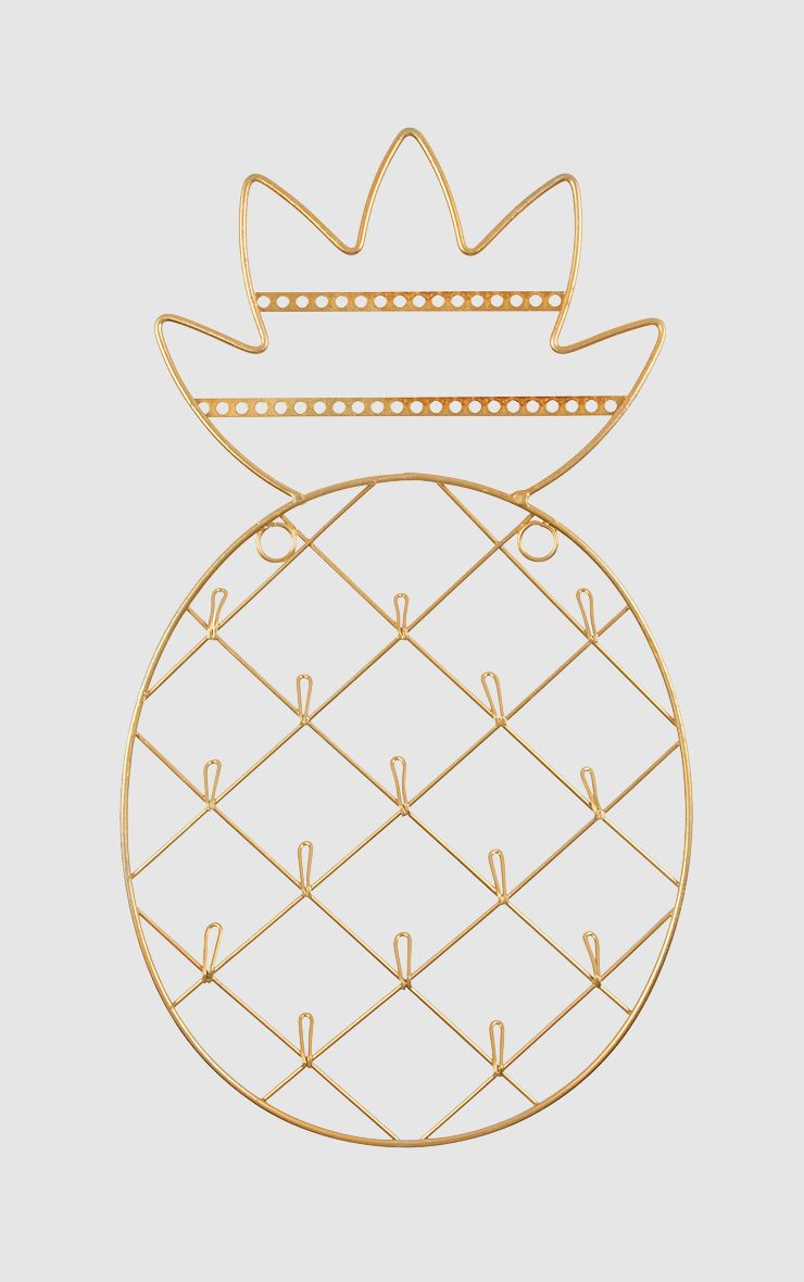 Sass & Belle Gold Pineapple Wall Jewellery Hanger