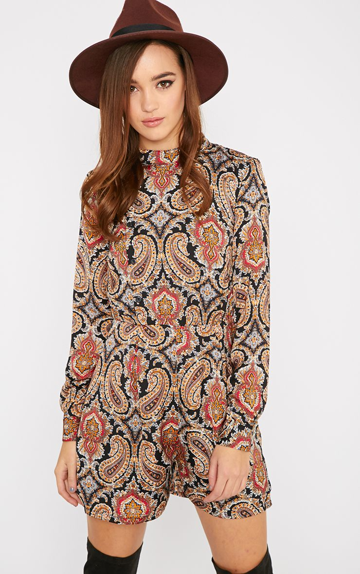 Esther Paisley Print Playsuit  1