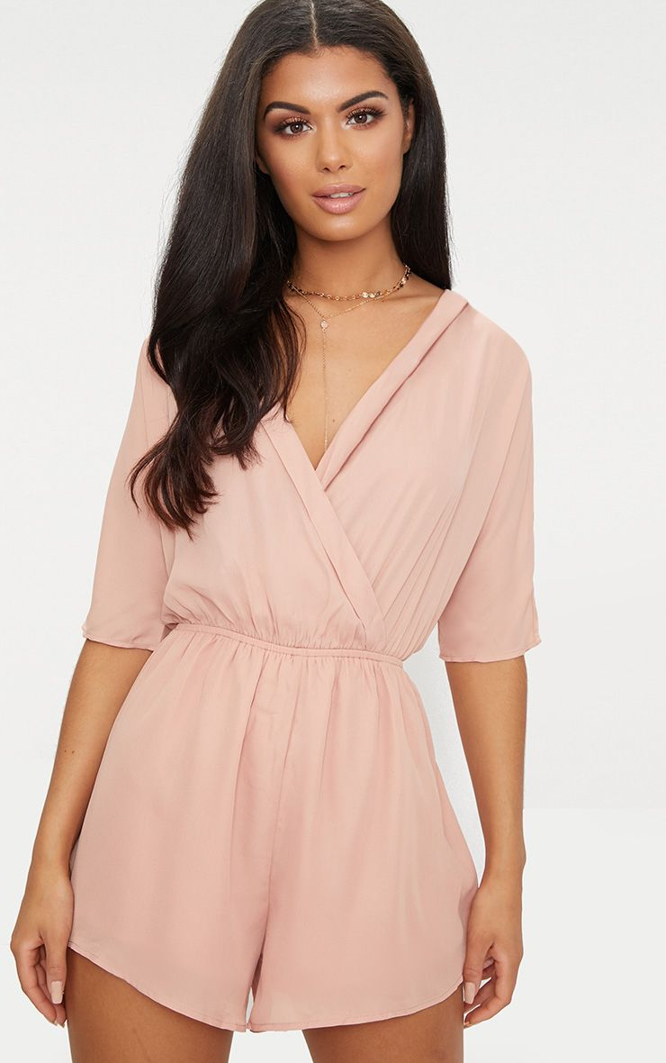 Bobby Nude Wrap Front Playsuit 1