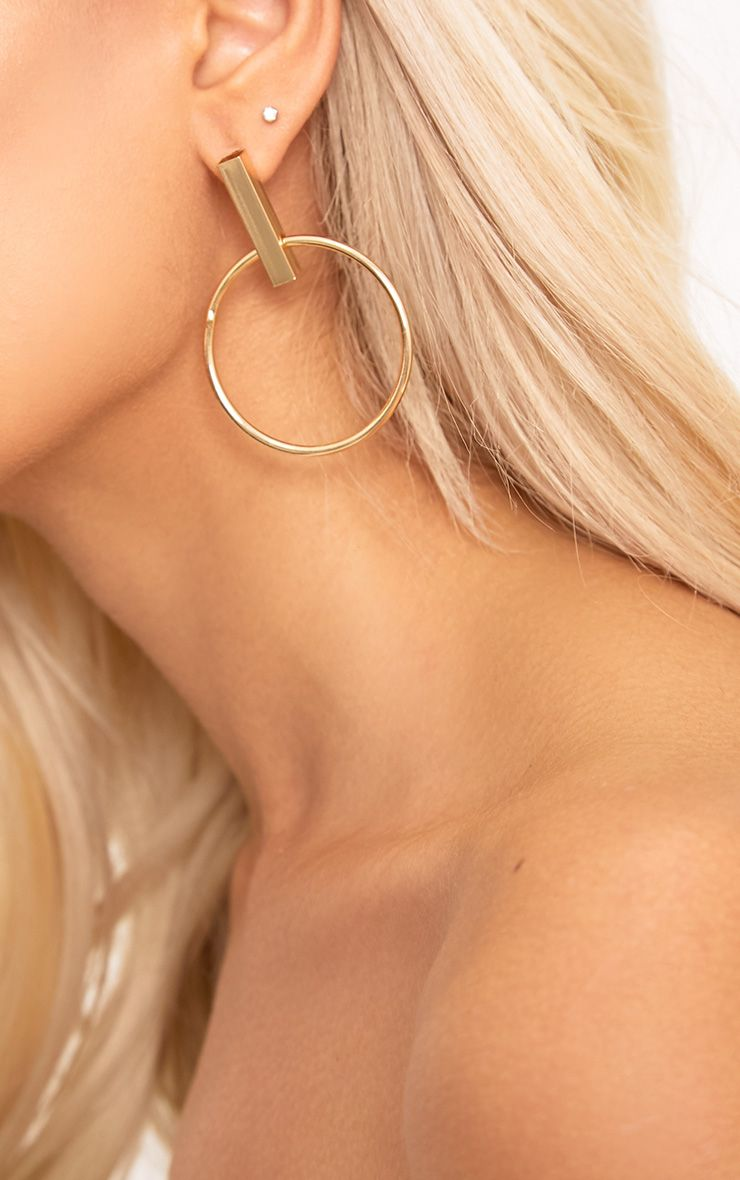Hollie Gold Circle Statement Earrings