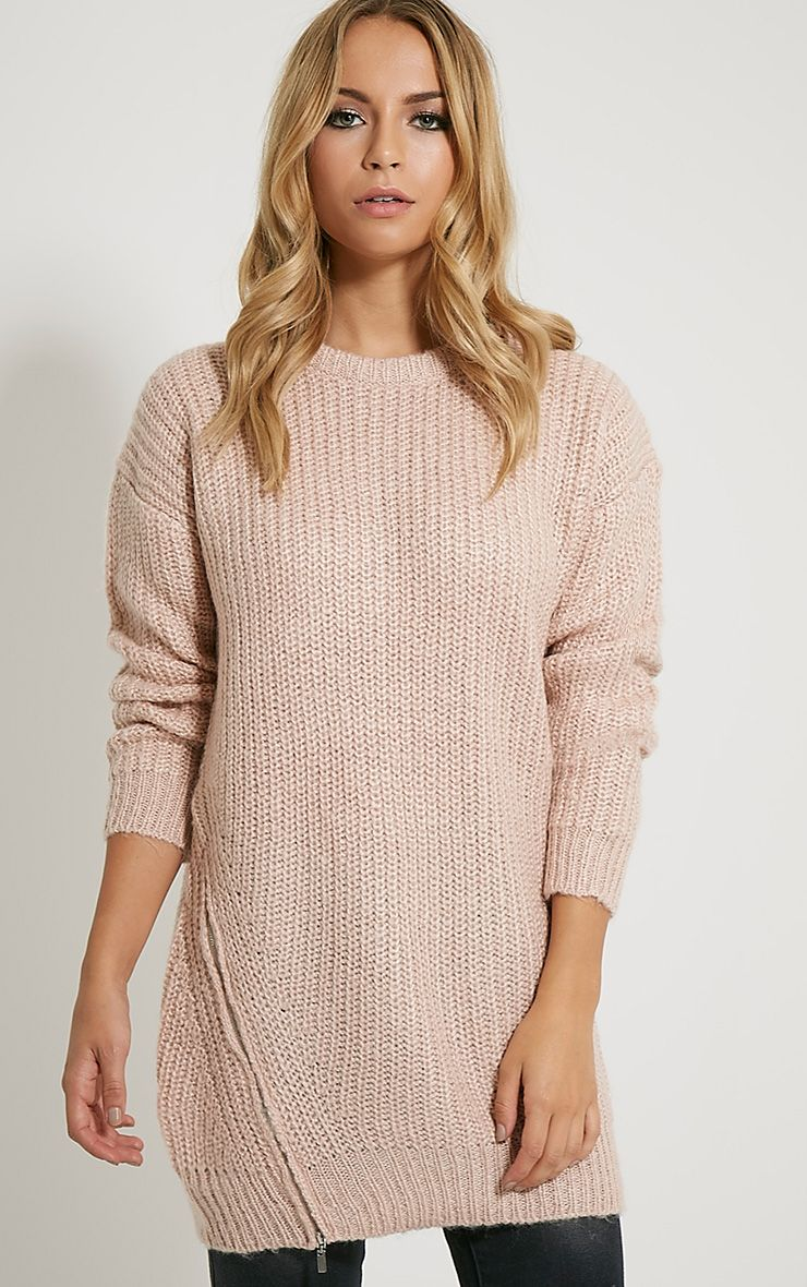 Lilja Pink Zip Detail Jumper 1