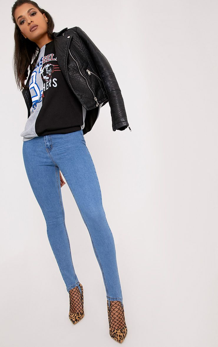 Kylie Light Wash Stirrup Skinny Jeans
