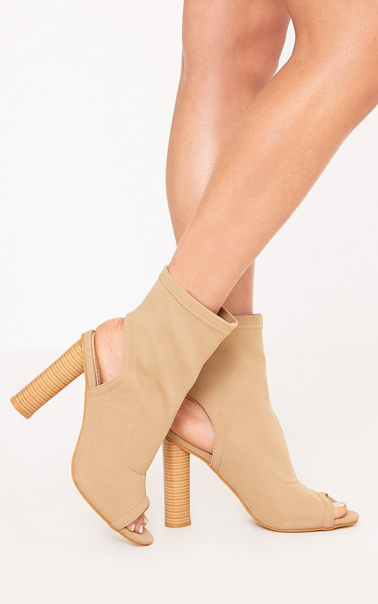 Cassidy Nude Knitted Cut Out Heels