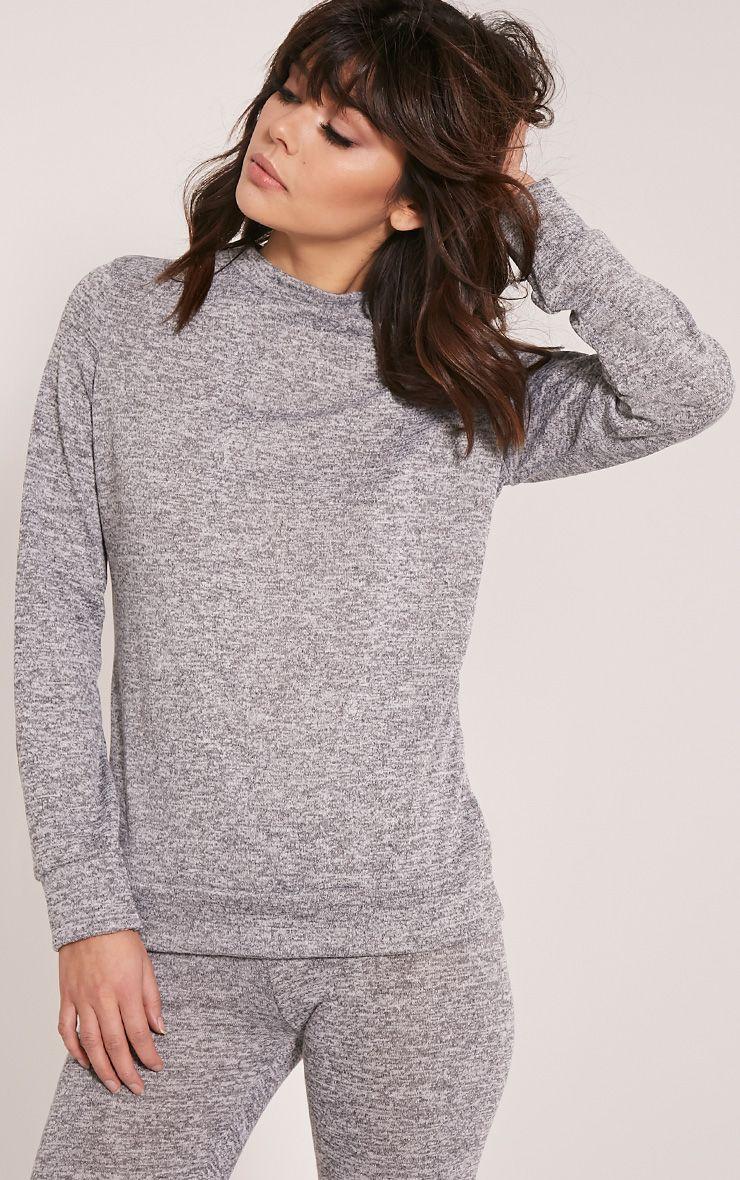 Dannie Grey Long Sleeve Tracksuit Sweatshirt 1