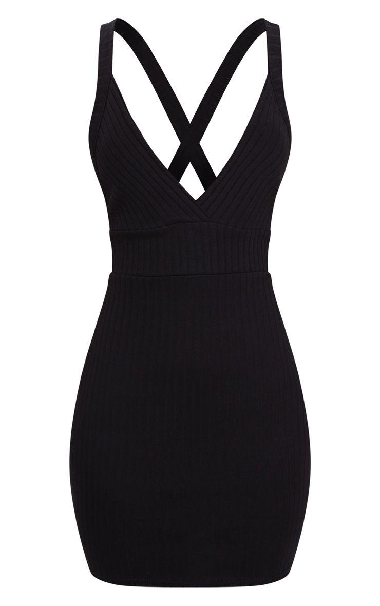 robe moulante c tel e noire bretelles crois es dans le dos robes. Black Bedroom Furniture Sets. Home Design Ideas
