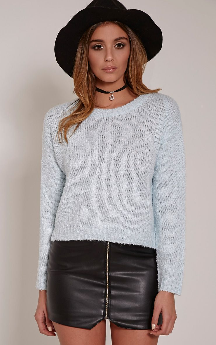 Karissa Mint Boucle Knitted Jumper 1
