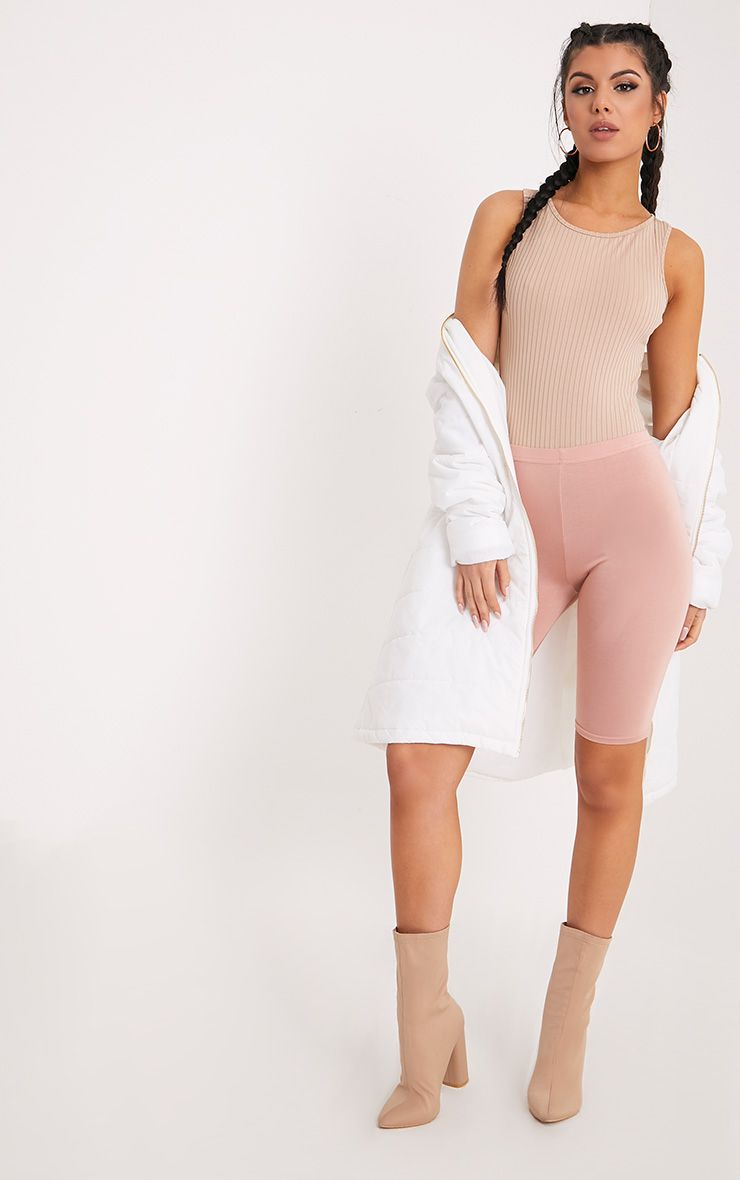 Marria Stone Ribbed Bodysuit