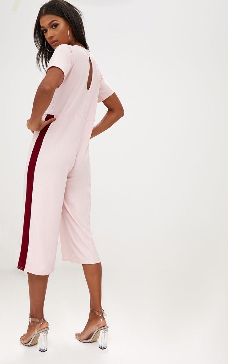 combinaison jupe culotte contrastante rose. Black Bedroom Furniture Sets. Home Design Ideas