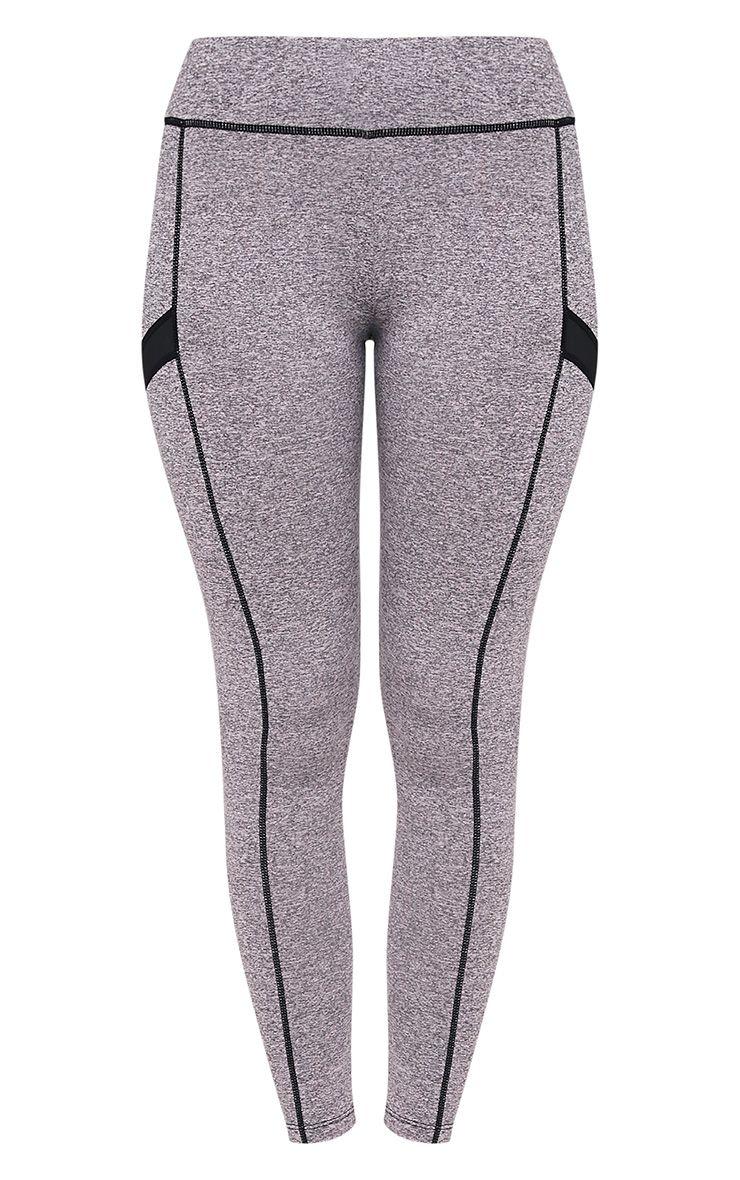 Alexis Grey Marl Panelled Gym Leggings 3