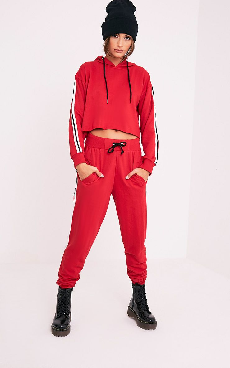 Gwen Red Side Stripe Joggers 1