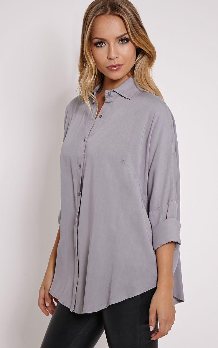 Pepper Grey Oversized Shirt 1