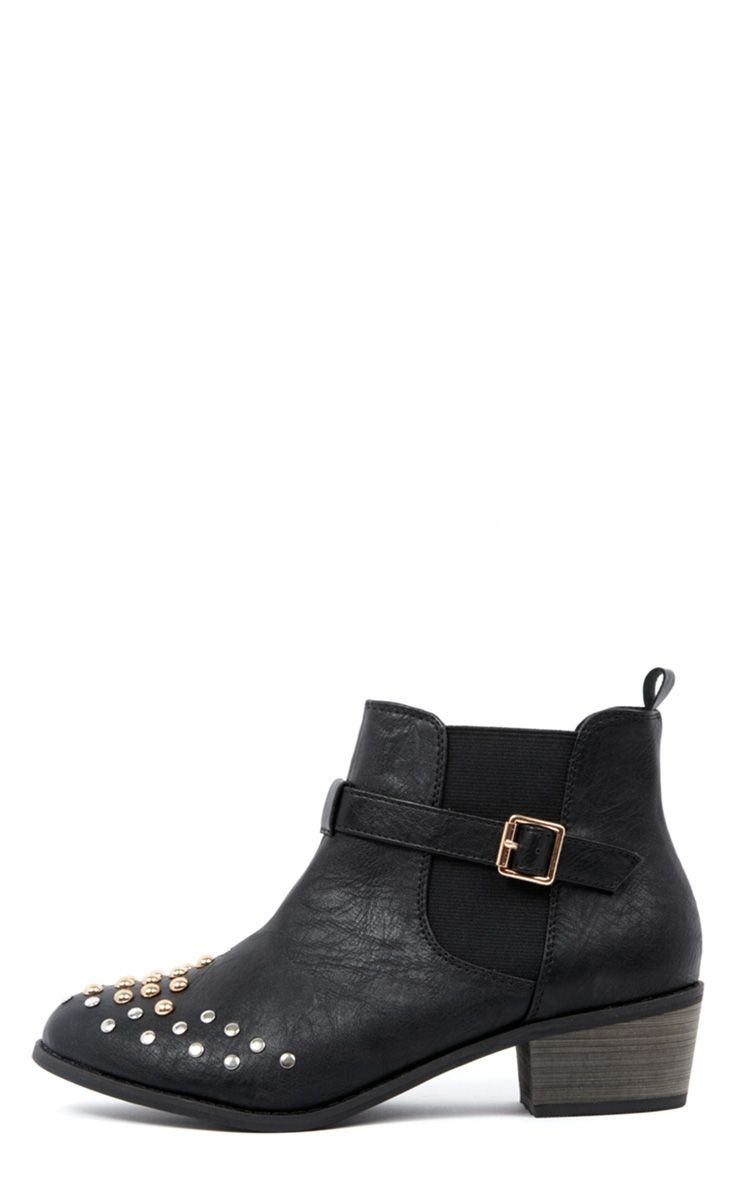 Gia Black Studded Boots-3 1