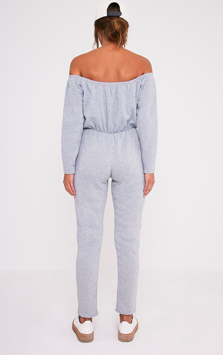 Thelma combinaison grise épaules dénudées et genoux déchirés Petite 3