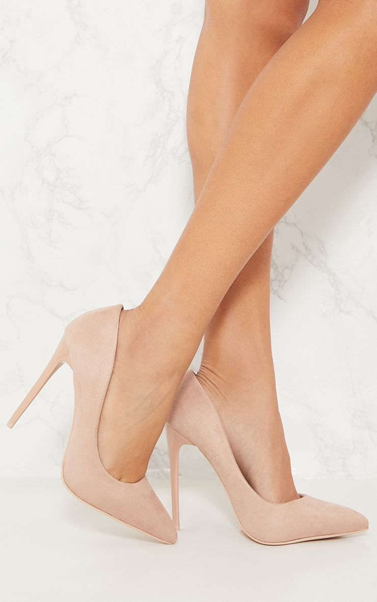 Nude Faux Suede High Court 1