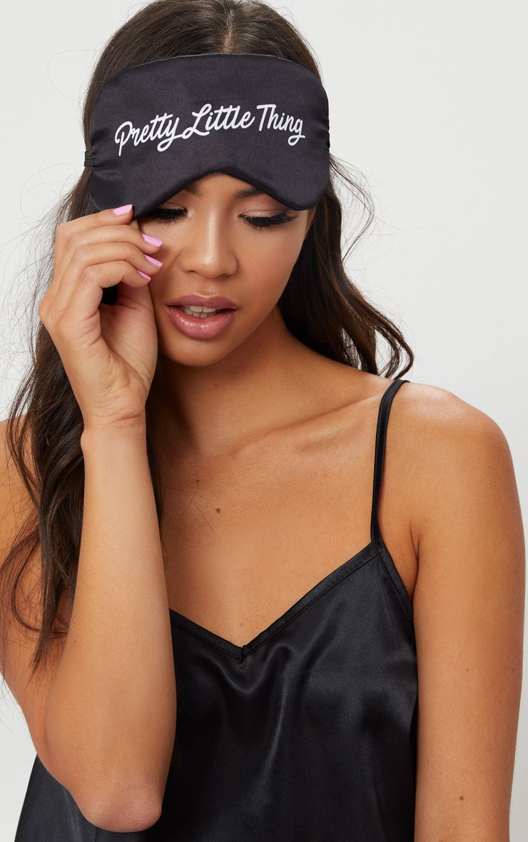 Black Pretty Little Thing Satin Sleep Mask