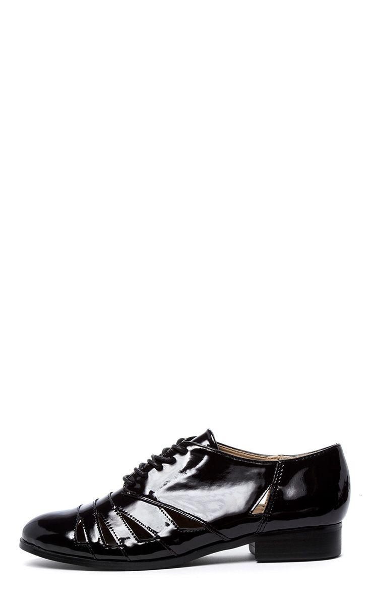 Aalia Black Lace Up Flat  1