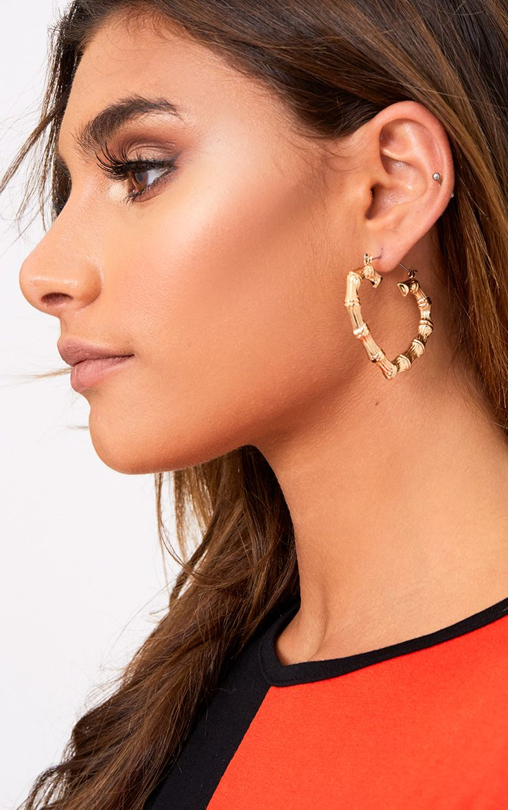 Gold Heart Creole Hoop Earrings