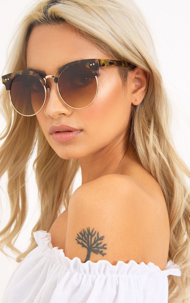 Brown Marble Topped Sunglasses