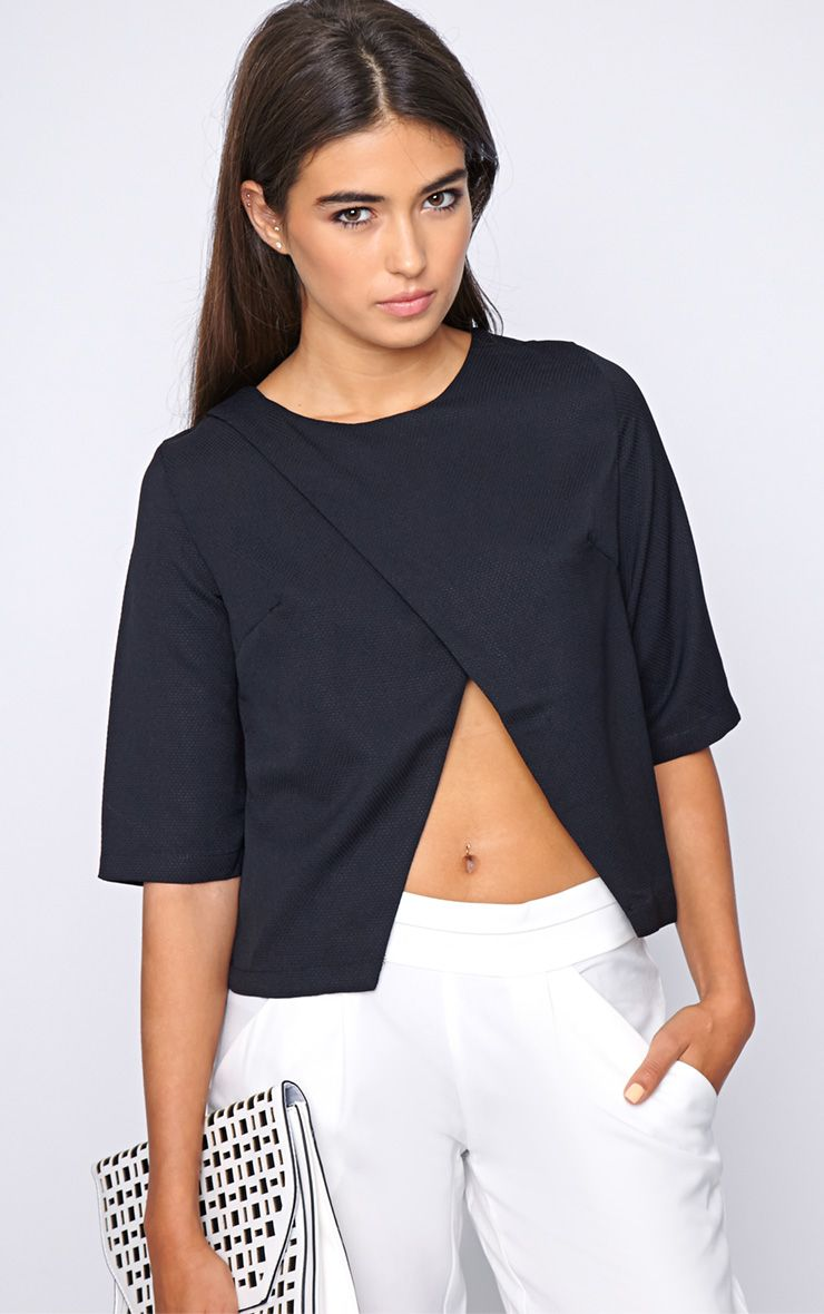 Sarah Black Cut Out Tee 1