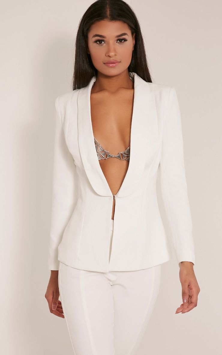 Avani Cream Suit Jacket 1