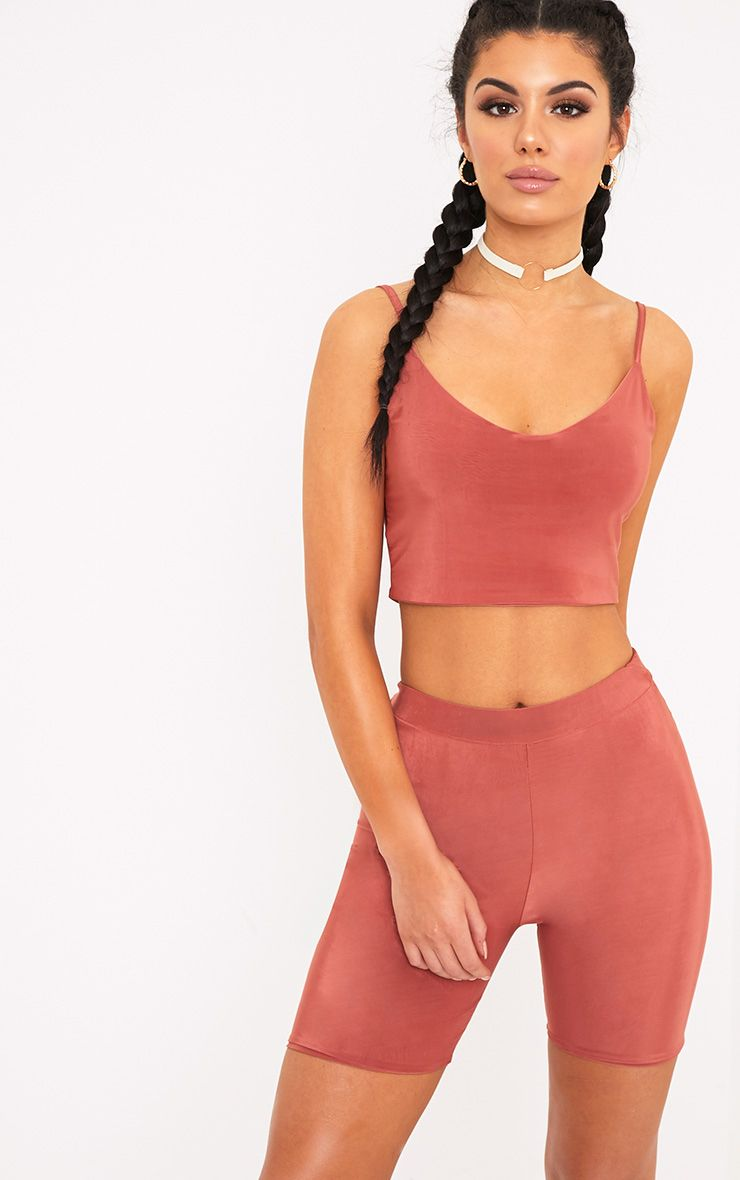 Bella Spice Slinky Cami Crop Top