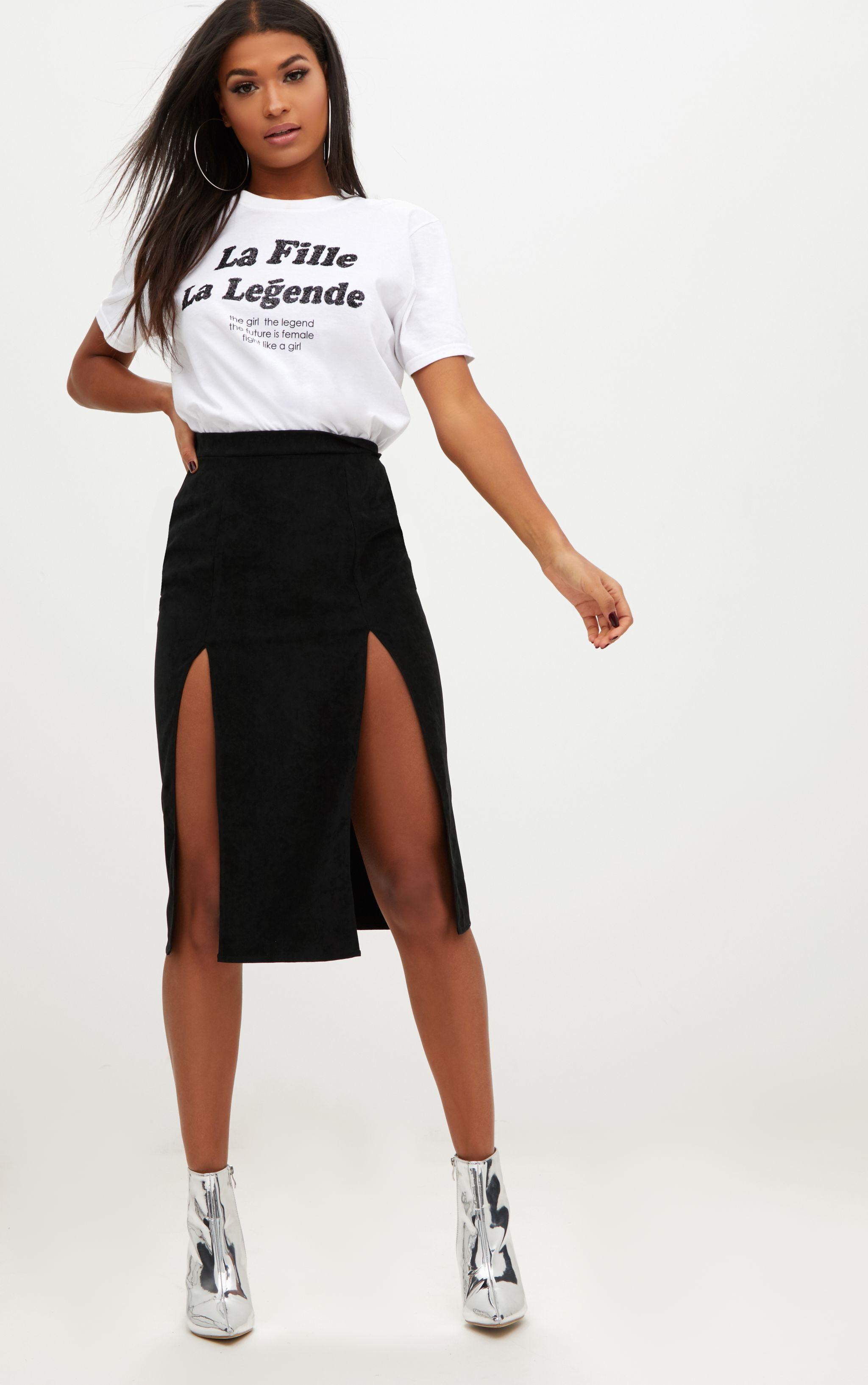 Purple Velvet Ruched Split Mini Skirt