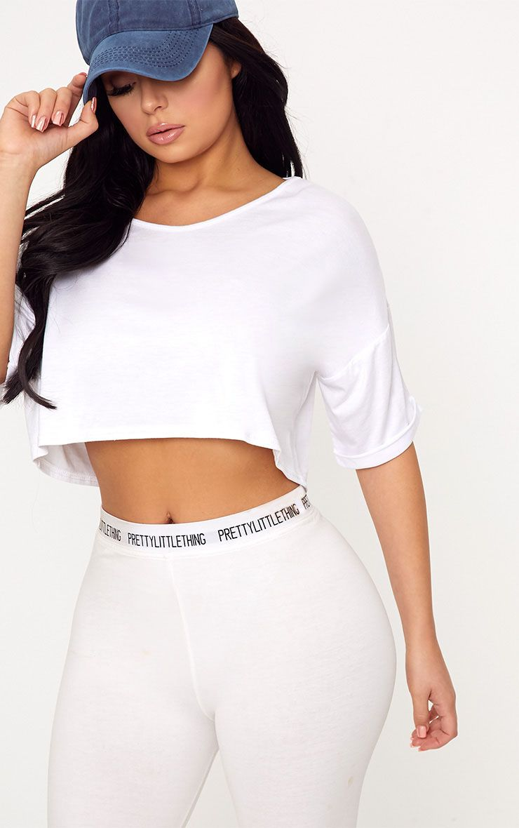 Shape Lannah White Basic Crop Top