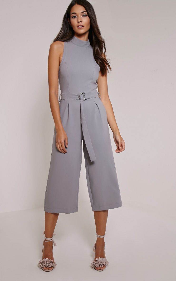 Candace Grey High Neck D Ring Culotte Jumpsuit 1