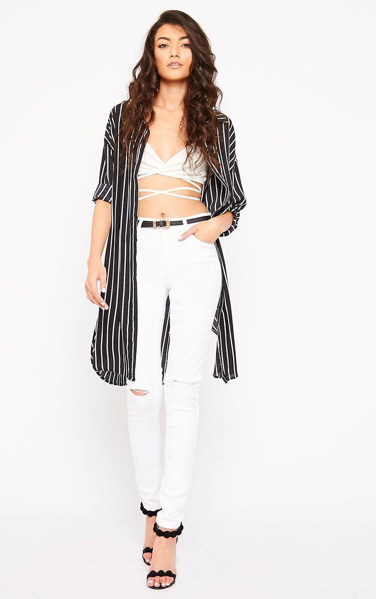 Avyanna White Ripped Skinny Jean 1