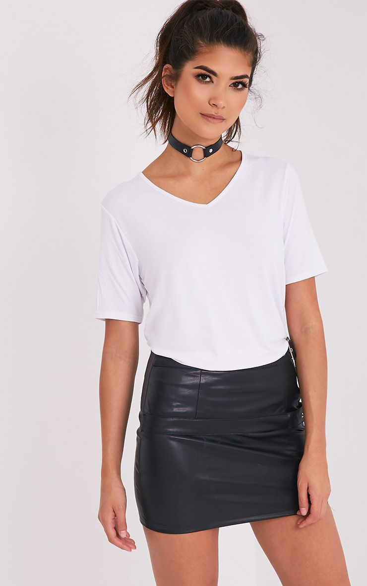 Basic white v neck t shirt shop tops for V neck t shirt online shopping