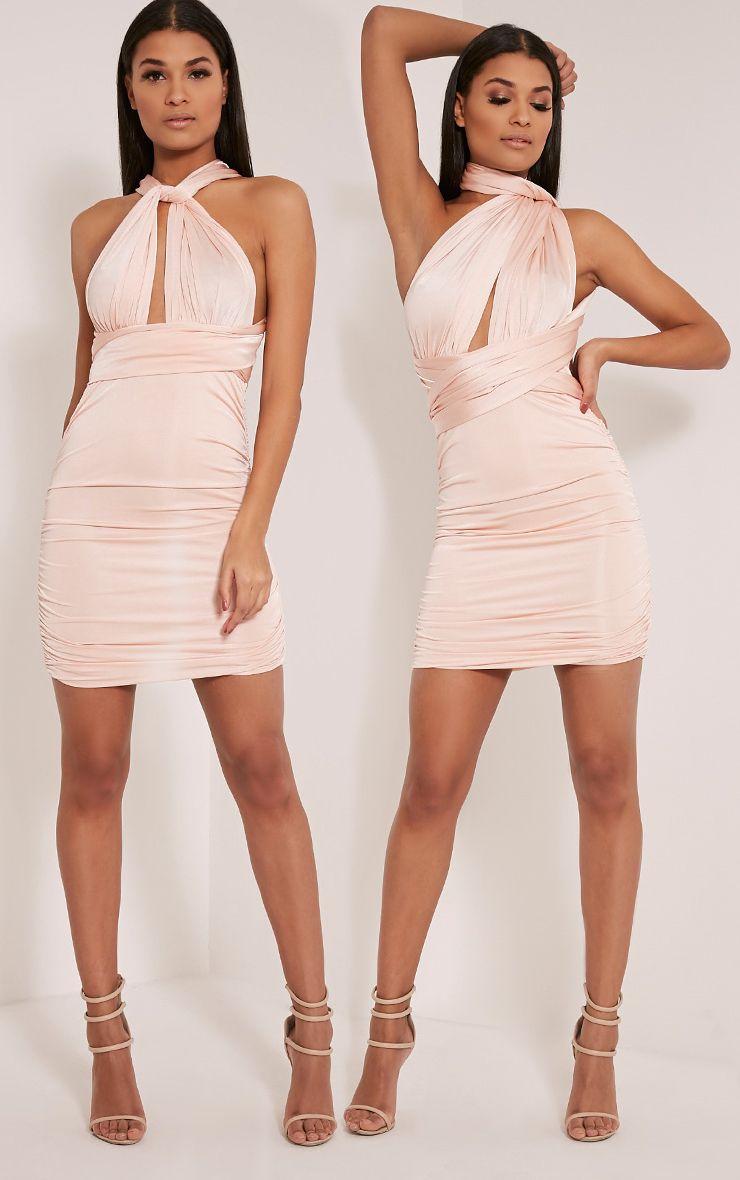 Katherine Nude Multiway Mini Dress 1