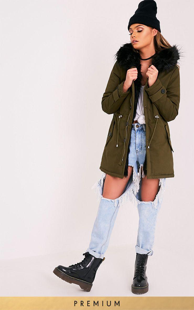 Jen Black Premium Faux Fur Lined Parka