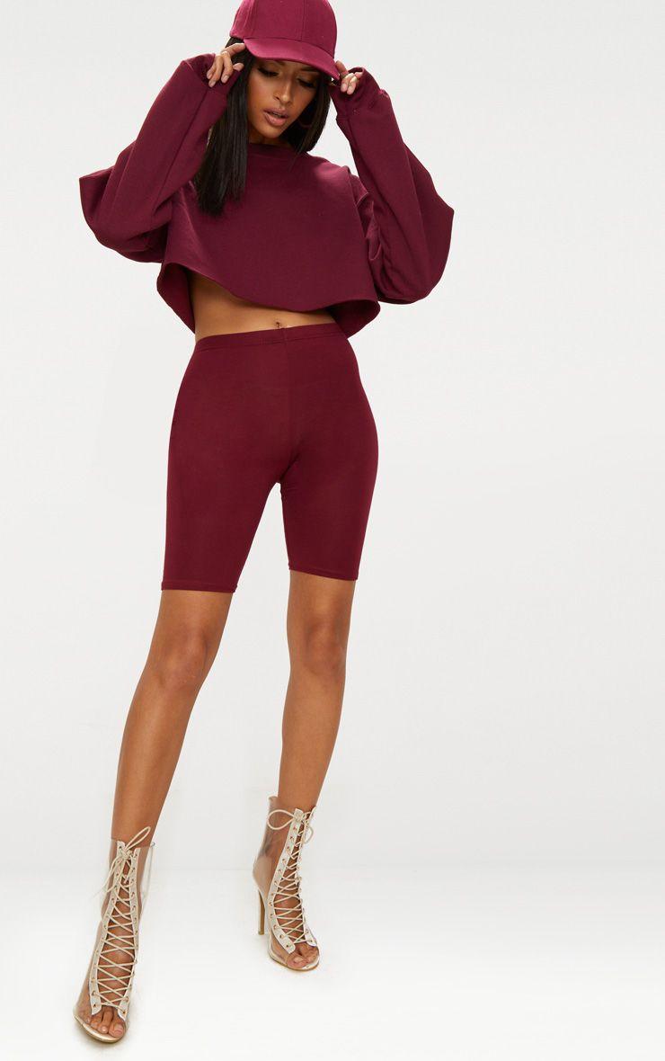 Maroon Basic Cycle Shorts