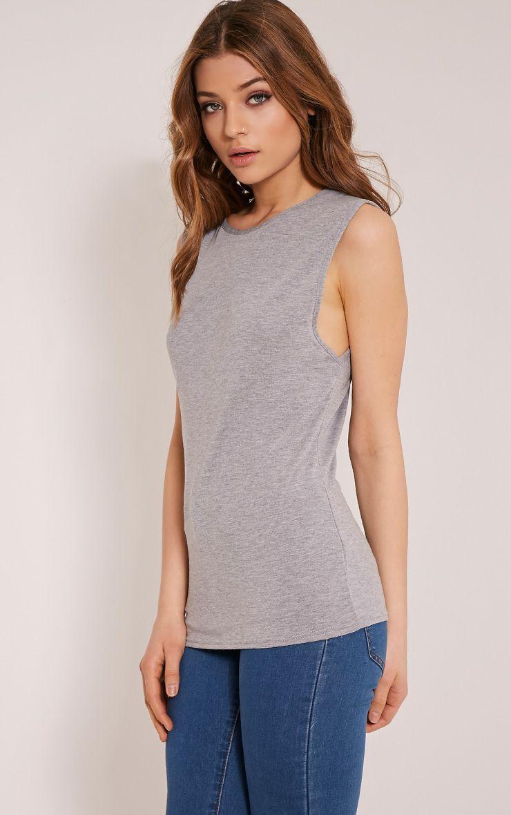 Basic Grey Round Neck Vest