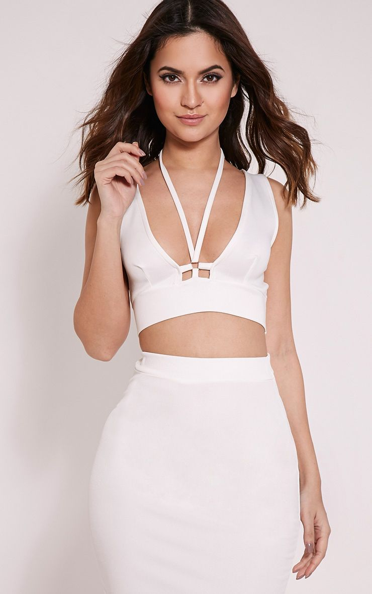 Lois Cream Harness Crop Top 1