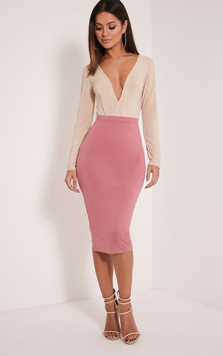 Basic Rose Midi Skirt