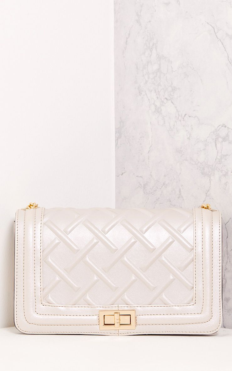 Cindy Champagne Chain Strap Shoulder Bag