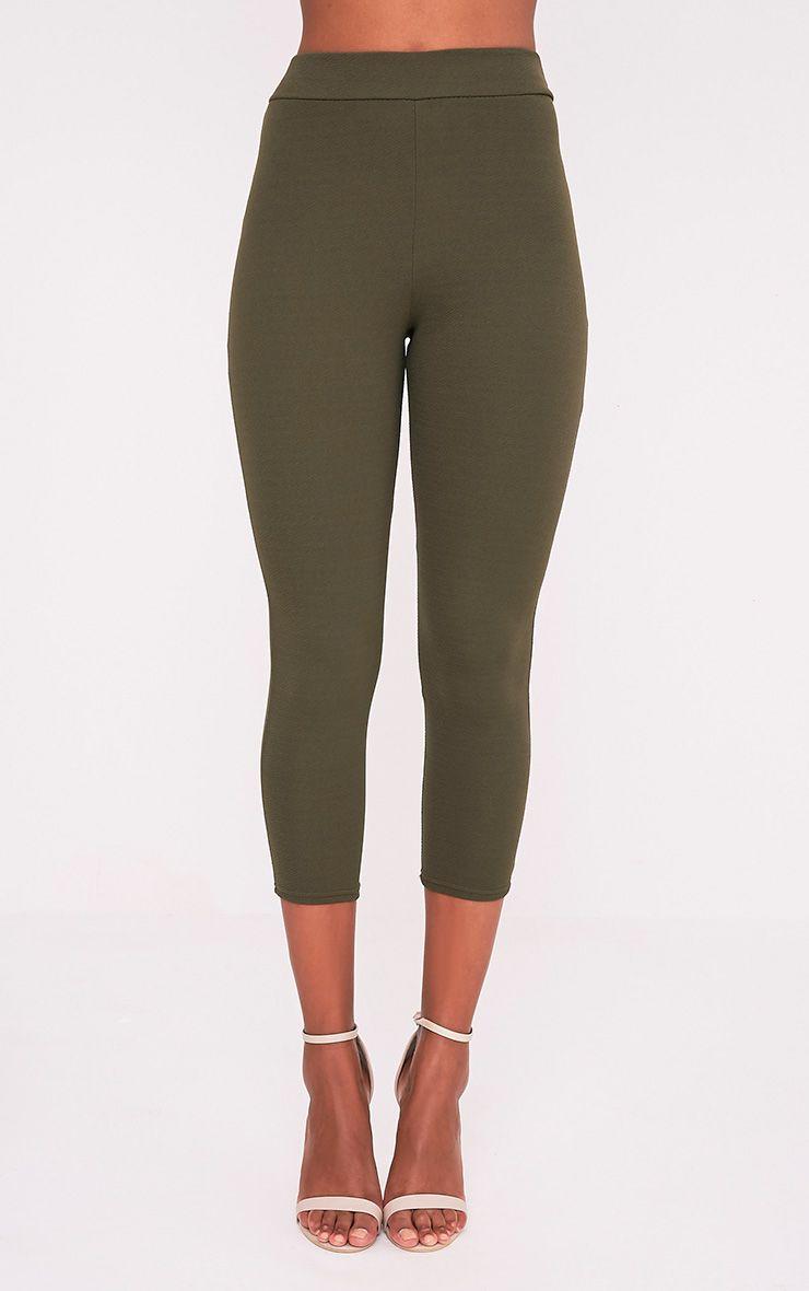 Danelle pantalon skinny crêpe kaki 2