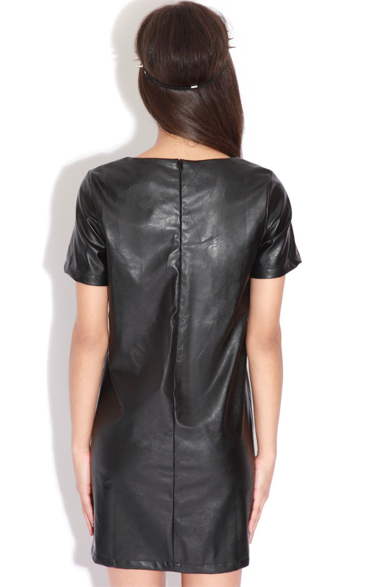Care One Credit Card >> Lita Black Faux Leather Shift Dress - dresses ...